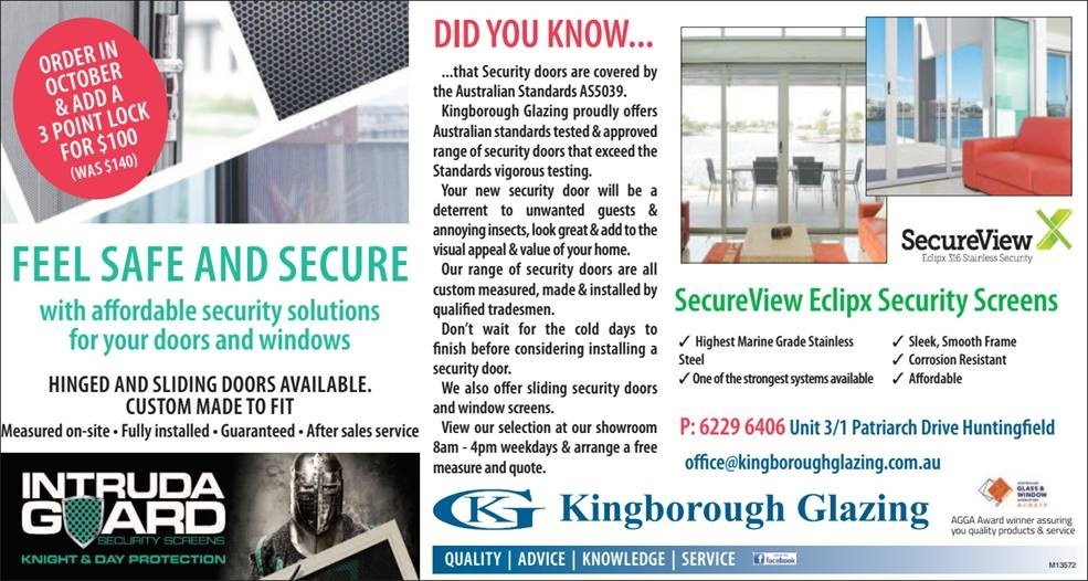 Advert Oct 2019 Kingb Chronicle Security Doors